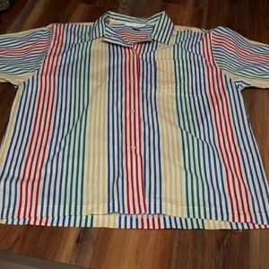 The Limited vintage rainbow striped shirt large